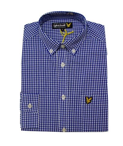Рубашка Lyle & Scott Gingham French Navy