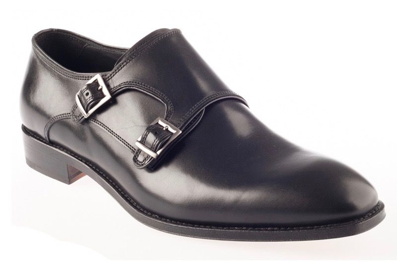 Туфли John White Ripon Calf Double Monk Black