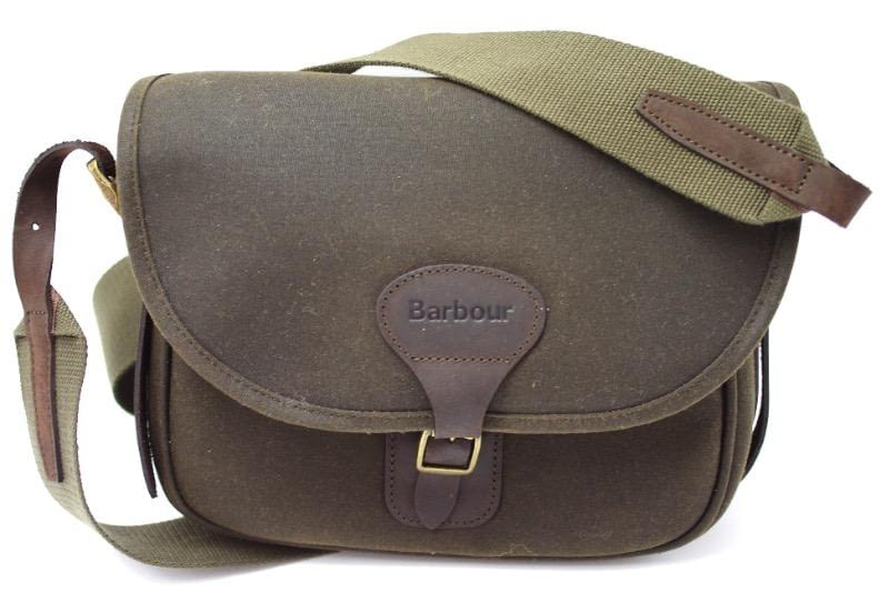 Сумка Barbour Waxed Cotton and Leather Cartridge Olive
