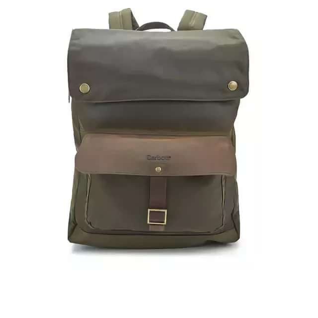 Barbour Wax Urban Backpack In Olive