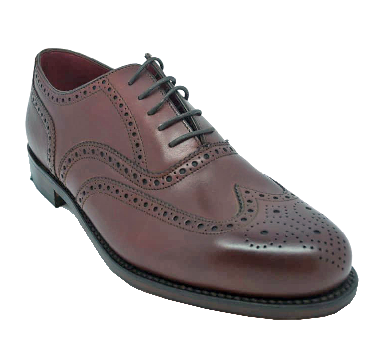 Loake Ladies Viv Brogue Shoe in Burgundy
