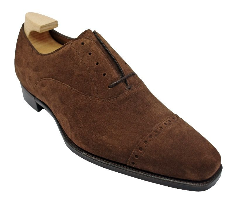 Туфли Gaziano & Girling Cambridge Oxfords in Mink Suede