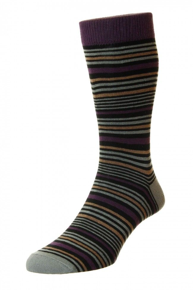 Hj Hall Milankov Stripe Supersoft Bamboo Socks In Asst