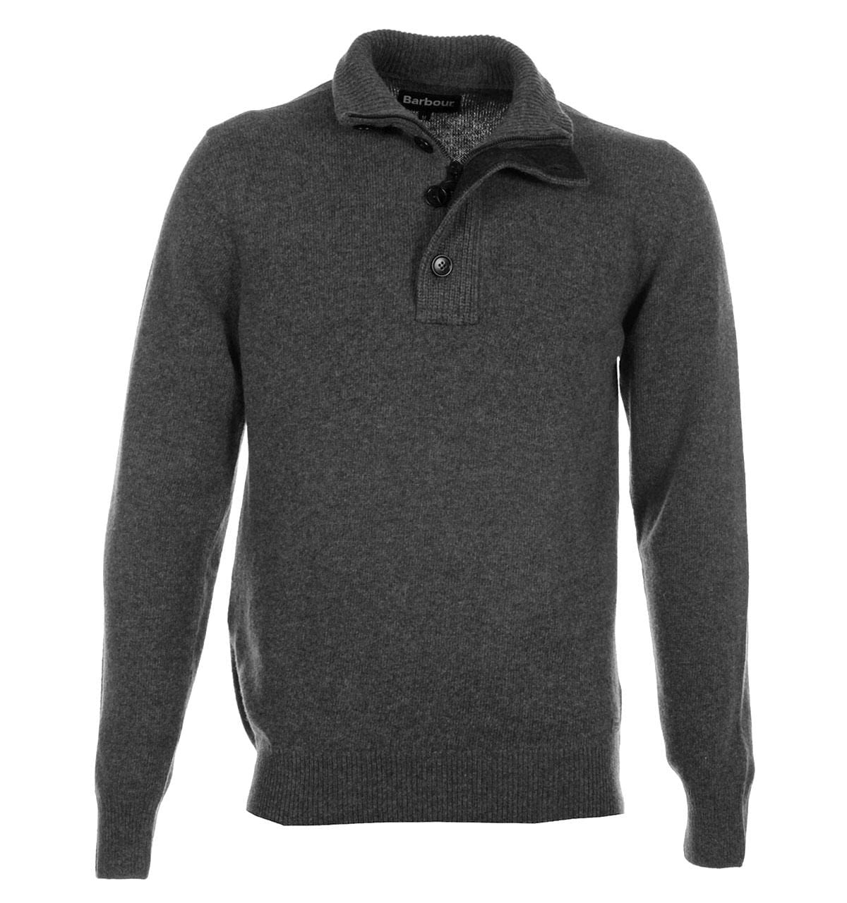 Свитер Patch Half Zip Lambswool Storm Grey