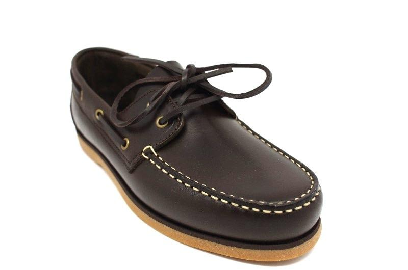 Мокасины John White Brevitt Leather Boat Shoe Brown