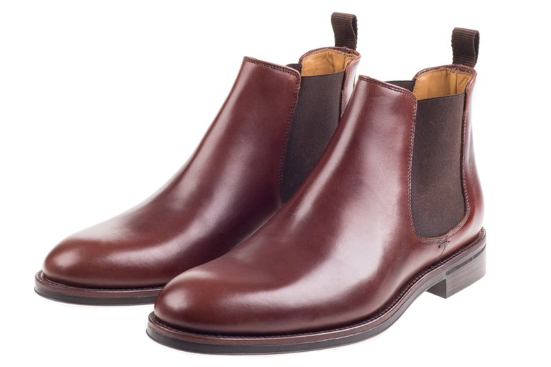John White Portchester Calf Chelsea Boots In Tan