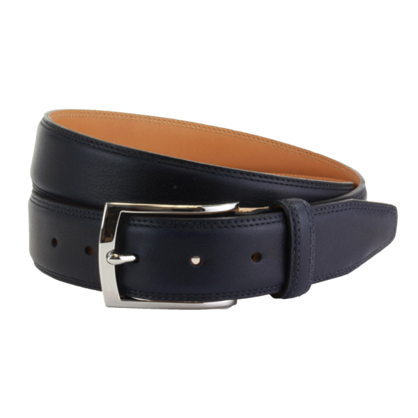 Ремень The British Belt Company Stanley Formal Leather Navy