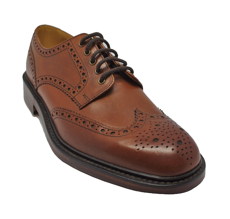 Loake Chester Brogue Shoe in Mahogany