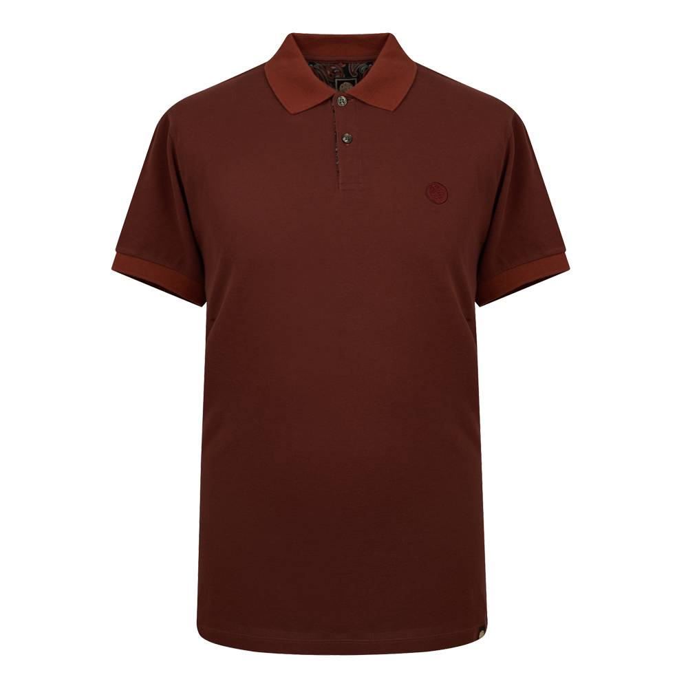 Pretty Green Turner Plain Polo In Burgundy