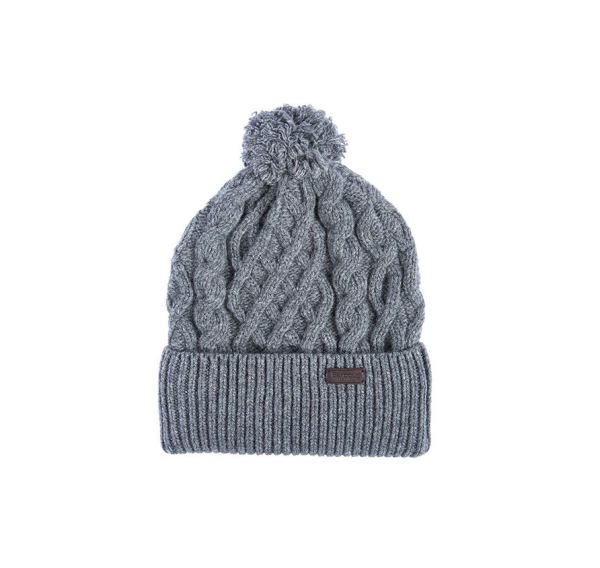 Шапка Barbour Cable Knit Beanie Gray