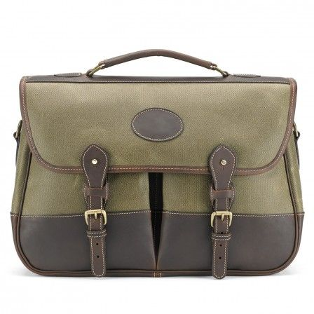 Сумка Tusting Satchel Lichen Waxed Canvas With Sundance Leather Trim