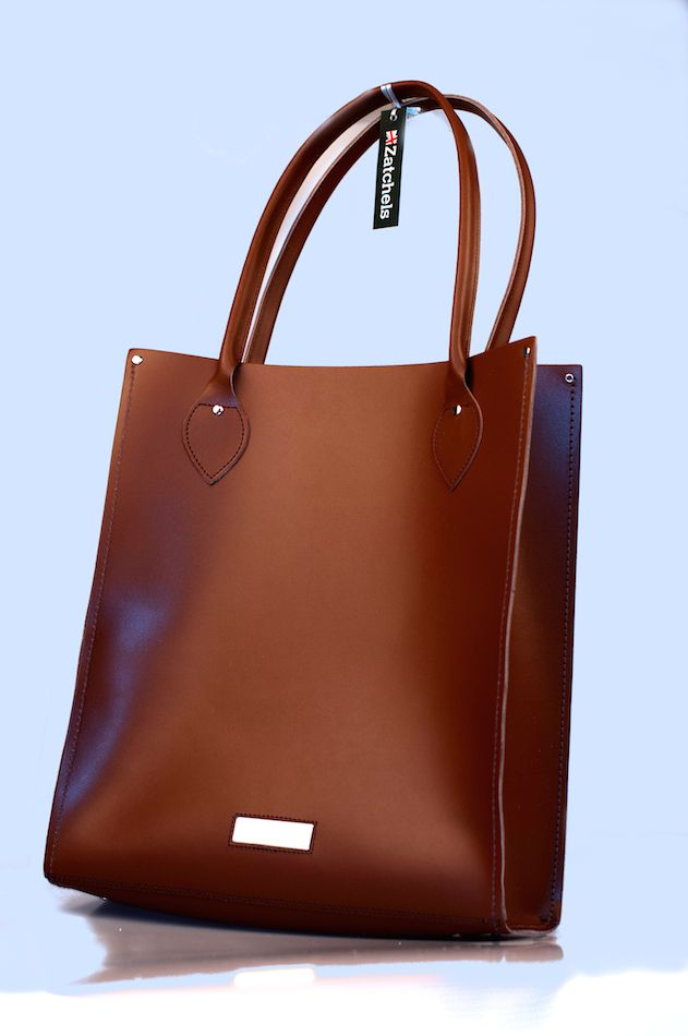 Сумка Zatchels Classic Leather Tote Chestnut