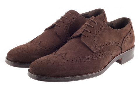 Броги John White Fontwell Suede Brown
