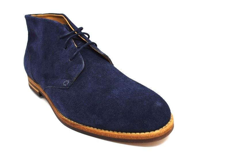Hudson Houghton 3 Chukka Boot in Navy Suede