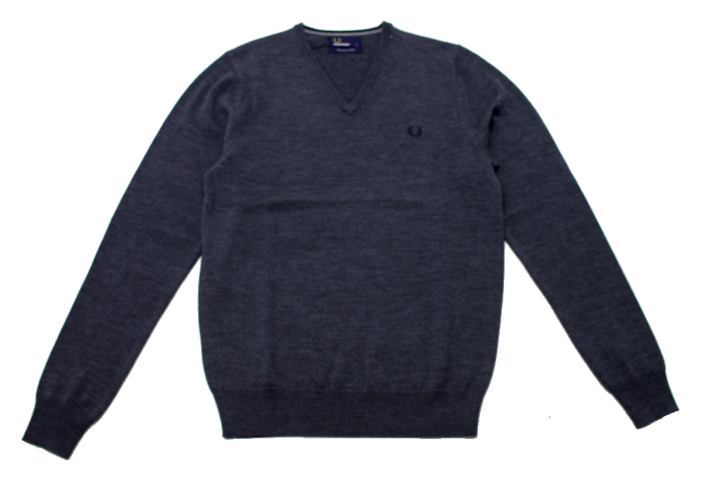 Джемпер Fred Perry Classic Wool V Neck Grey