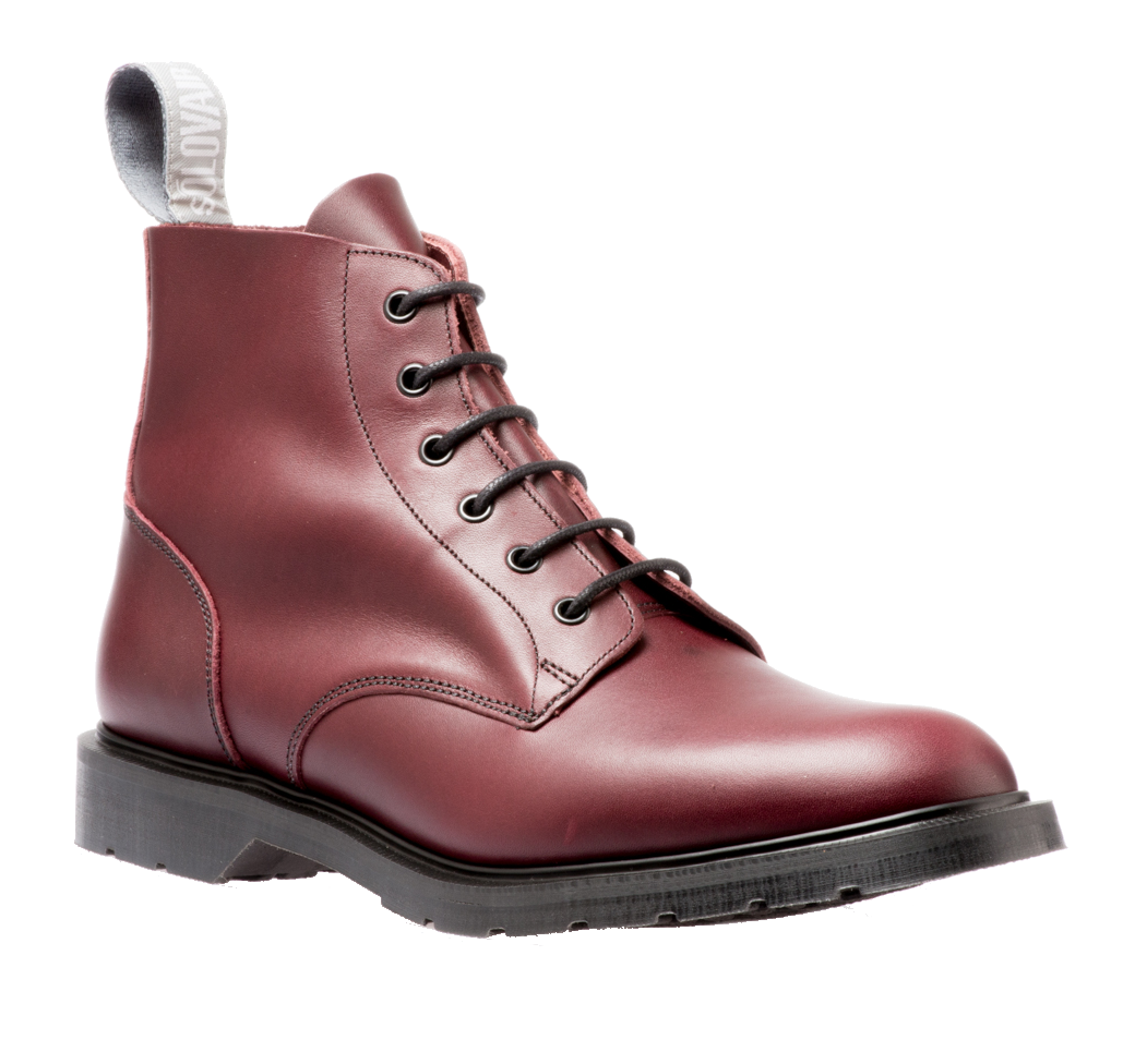 Ботинки Solovair 6 Eyelet Derby Boot Burgundy