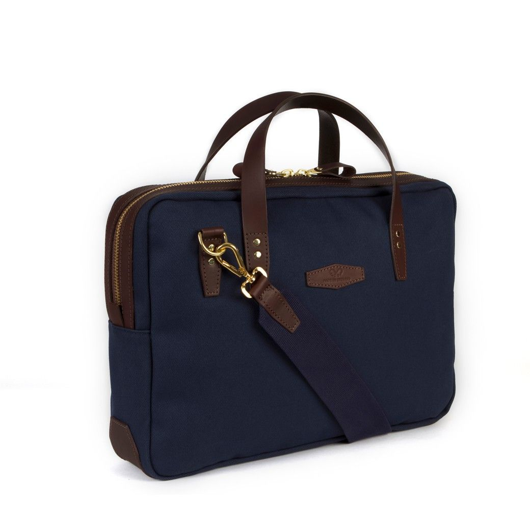 Chapman Bovey Briefcase in Navy