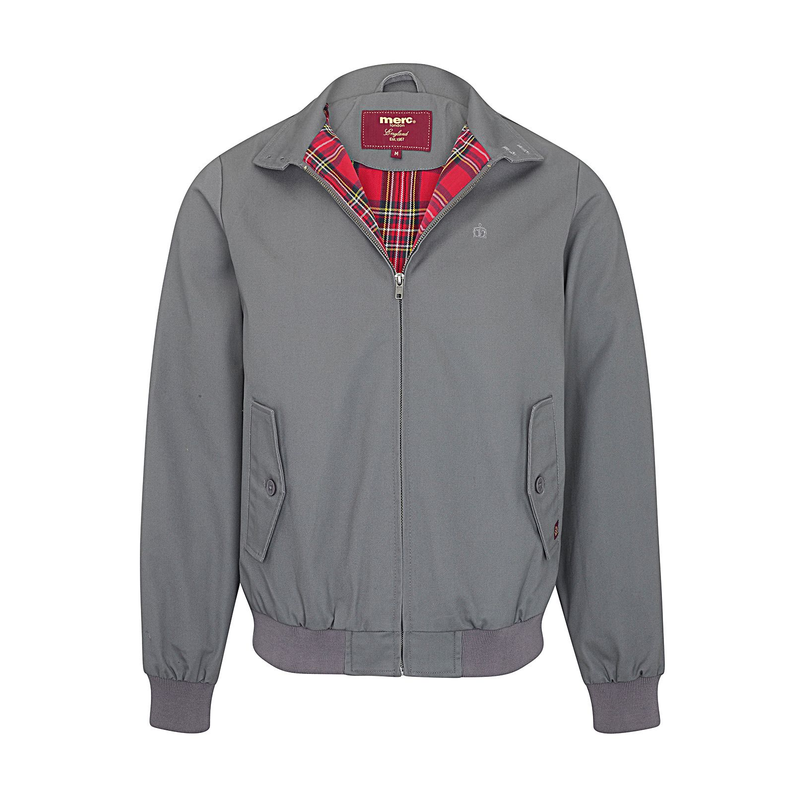 Merc Harrington Jacket in Dark Grey