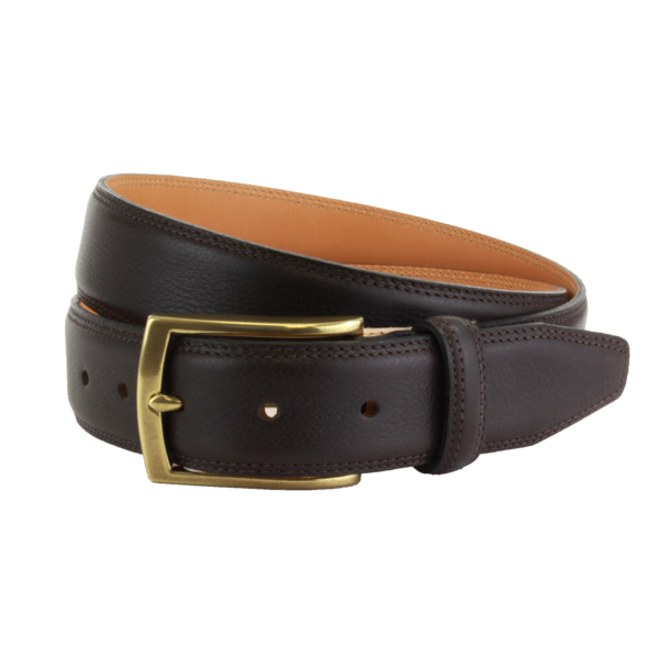 Ремень The British Belt Company Stanley Formal Leather Brown