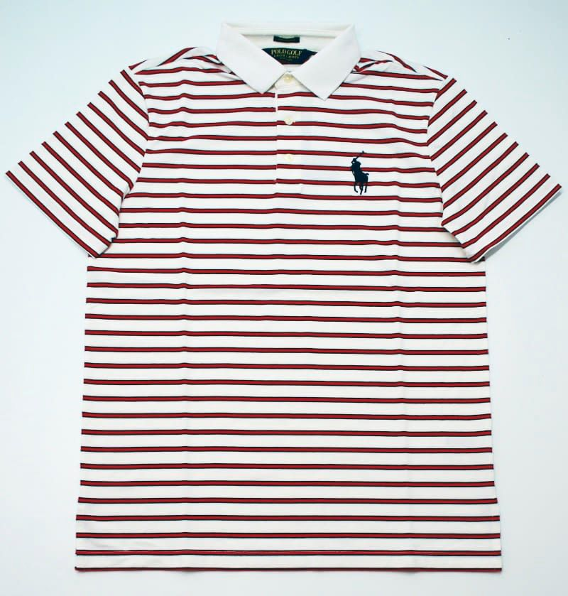 Ralph Lauren Pro Fit Polo in White Multi Stripes
