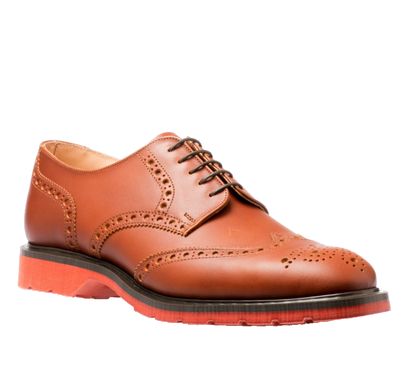 Броги Solovair 5 Eye Gibson Brown Red Sole