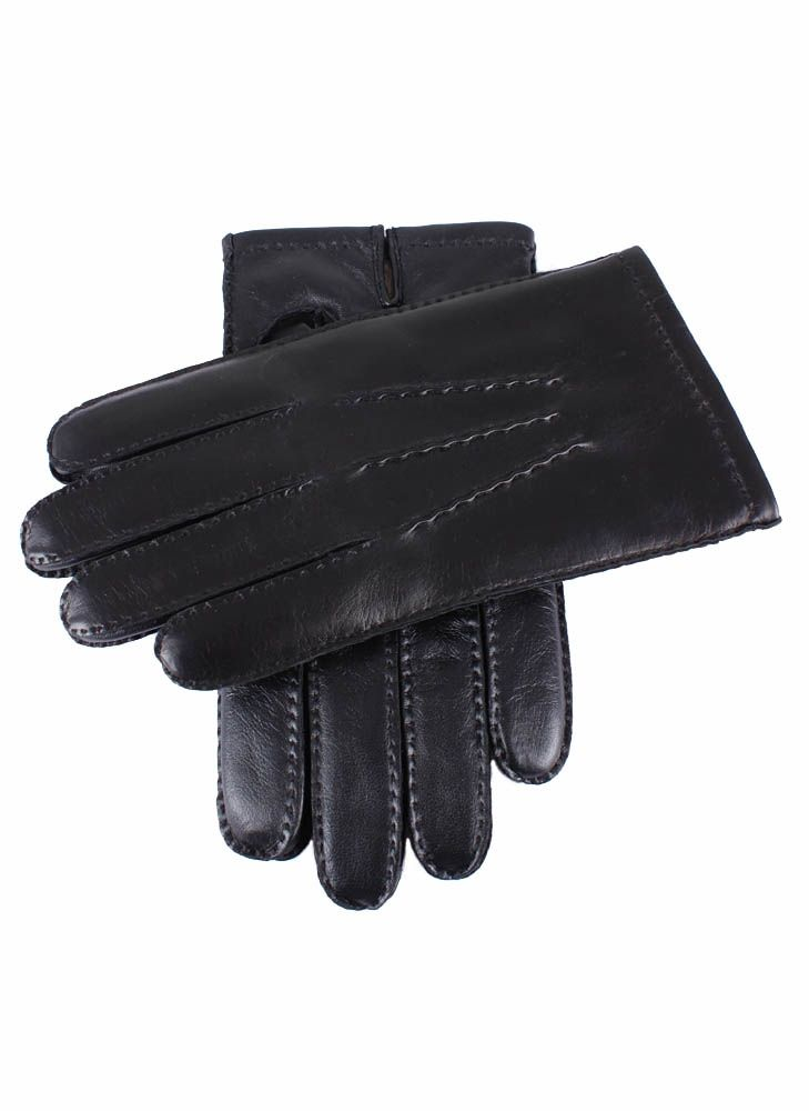 Dents Handsewn Cashmere Lined Hairsheep Leather Touchscreen Gloves In Black