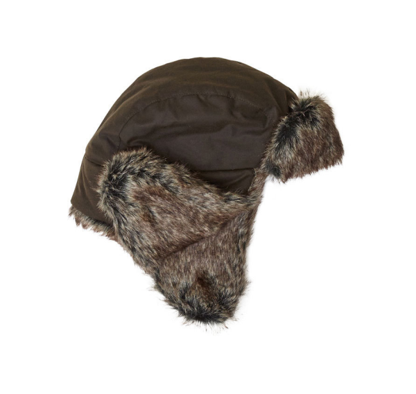 Шапка Barbour Wax Grasmere Trapper Brown