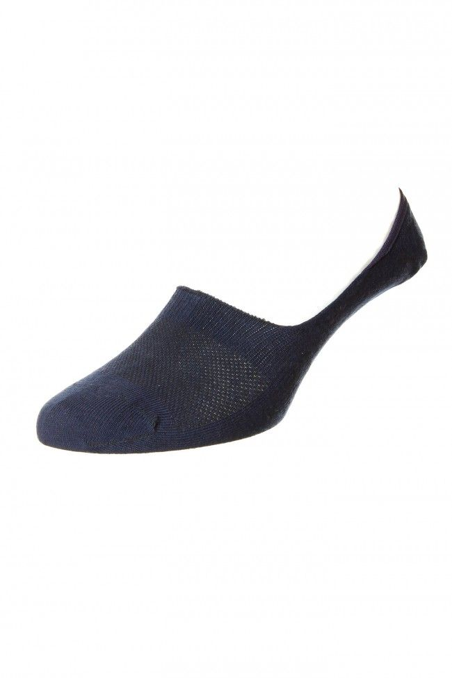 Hj Hall Invisible Shoeliner Bamboo Socks In Navy