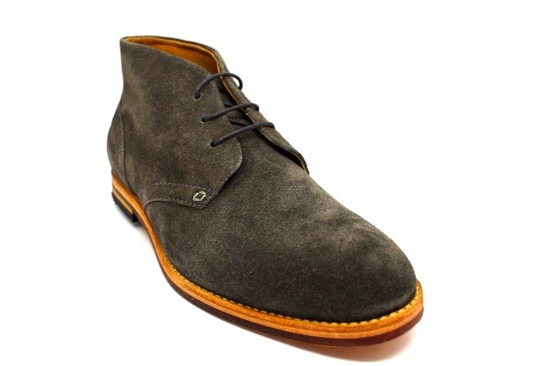 Hudson Houghton 3 Chukka Boot in Grey Suede