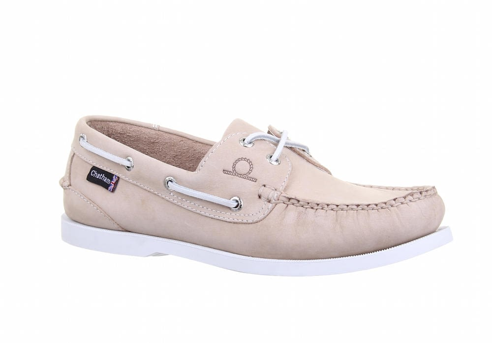 Chatham Pacific Big Size G2 Boat Shoe in Stone
