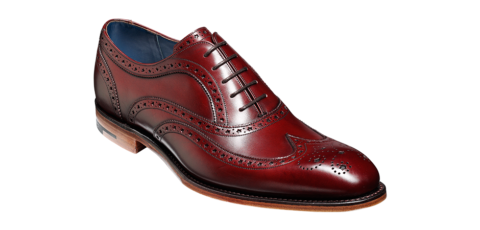 Броги Barker Jensen Wingtip Leather Cherry Calf