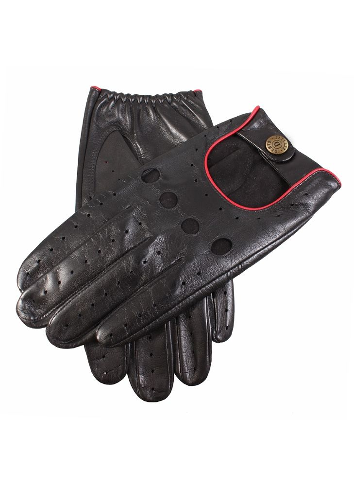 Dents Hairsheep Leather Classic Driving Gloves In Black