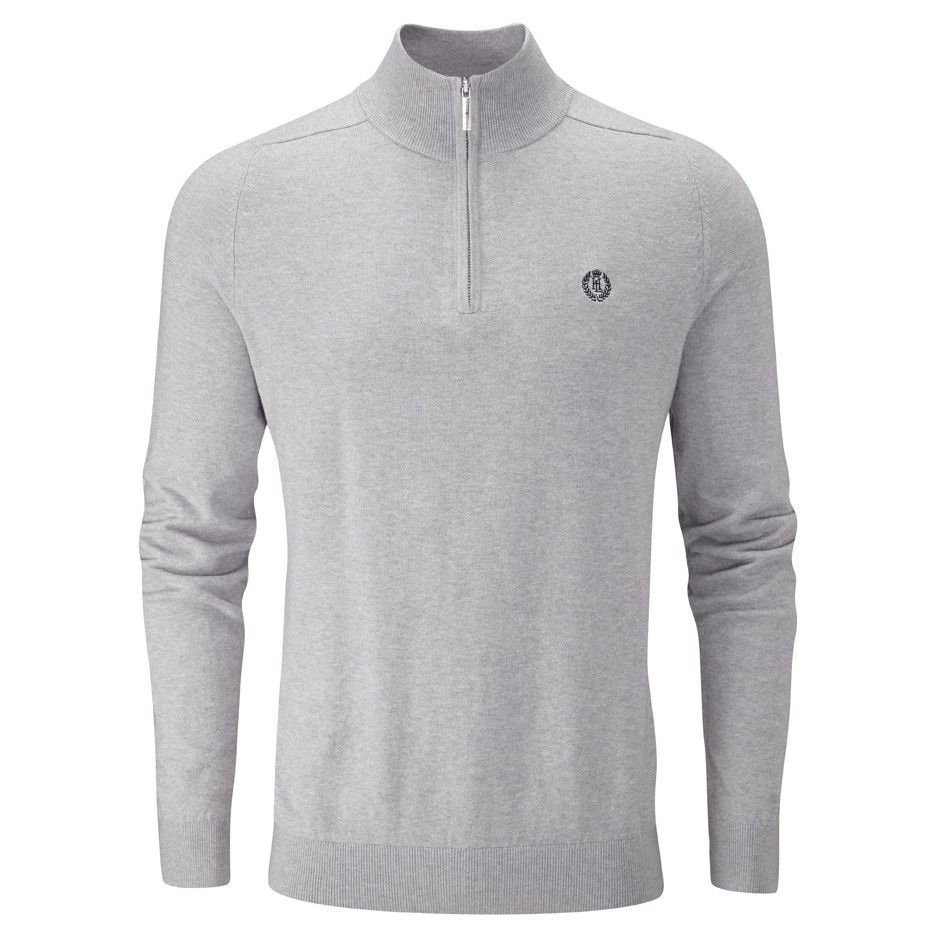 Джемпер Henri Lloyd Miller Regular Half Zip Grey Marl