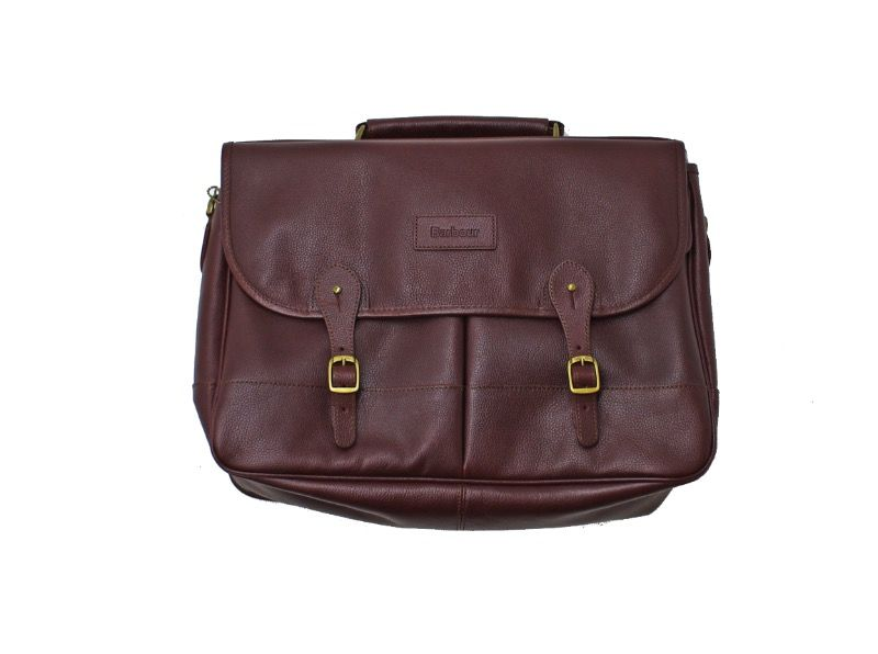Портфель Barbour Leather Briefcase Dark Brown