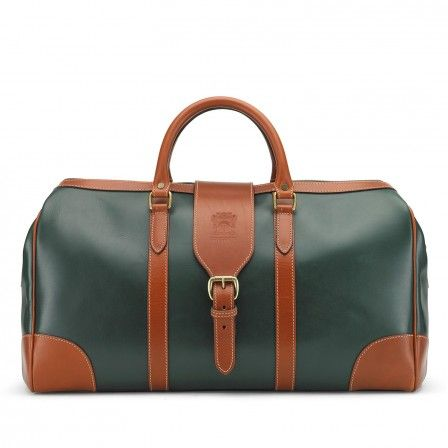 Сумка Tusting Harrold Chellington Leather Holdall Green And Tan