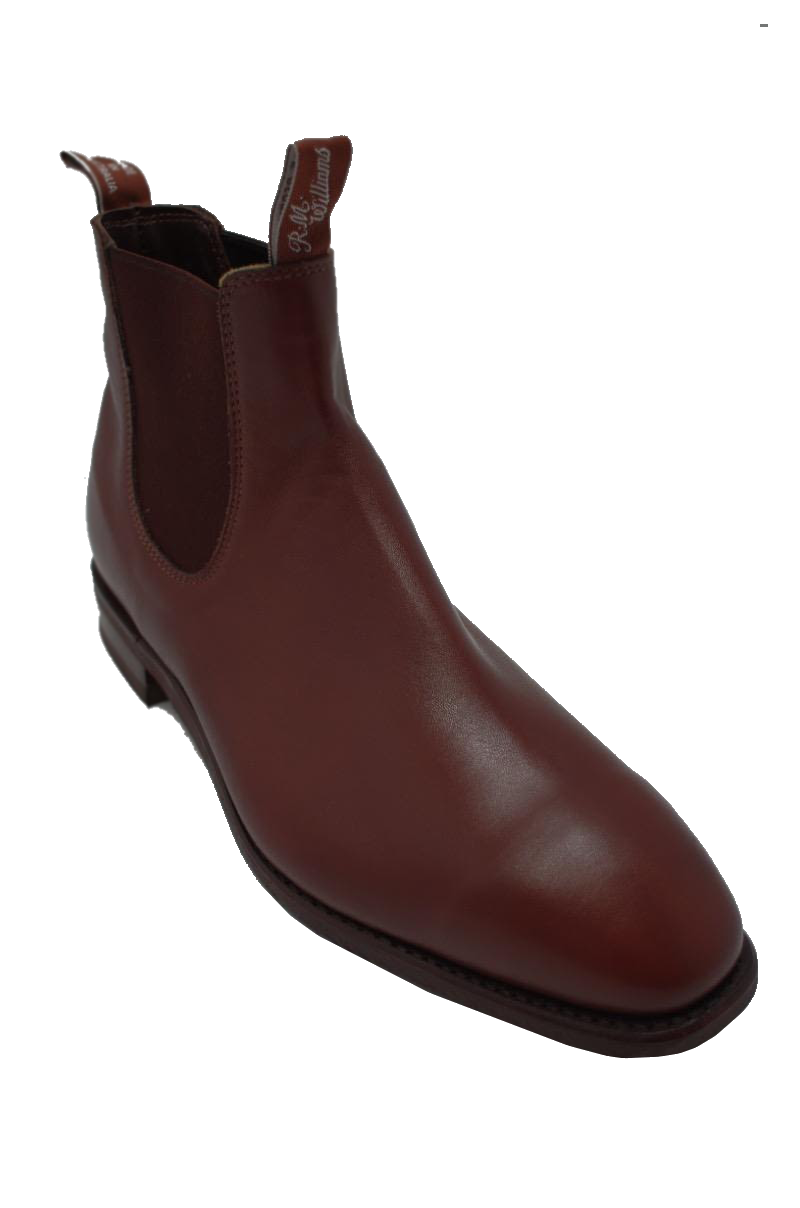 Обувь большого размера R.M. Williams Comfort Craftsman Yearling Chelsea Dark Tan