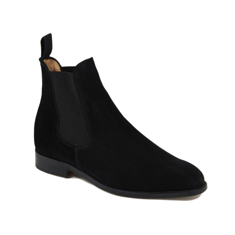 Sanders Marylebone Chelsea Boot in Black Suede.jpg