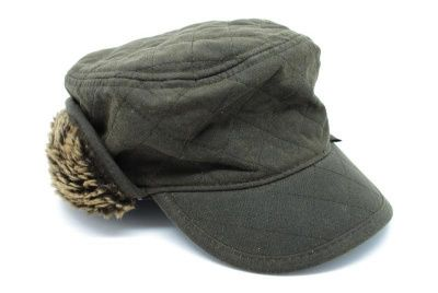 Barbour Stanhope Trapper Waxed Hat in Olive