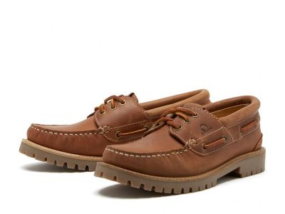 Chatham Sperrin Waterproof Boat Shoes in Cognac