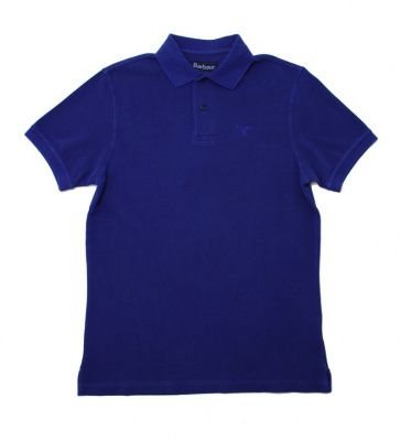 Barbour Washed Sports Polo in Navy