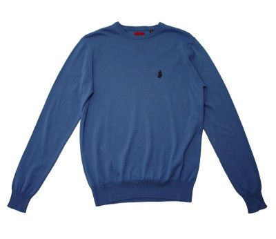 Luke Gerards Crew Neck Jumper in Blue