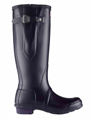 Hunter Ladies Original Adjustable High Boot Welly Aubergine