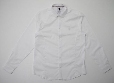 Luke Butchers Pencil Slim Shirt in White