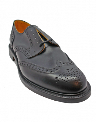 Alfred Sargent Large Size Gibson Brogue in Black