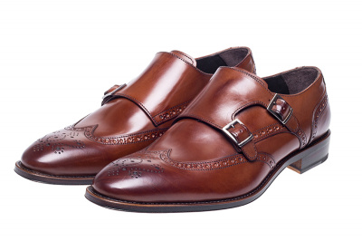 John White Clifton Double Monk Brogue in Brown