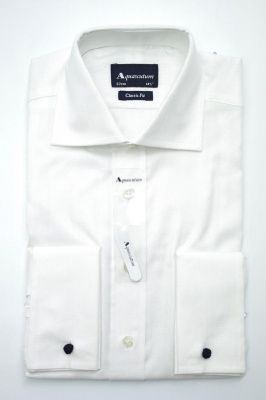 Aquascutum Canterbury Twill Formal Shirt in White
