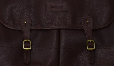 Barbour Leather Briefcase in Dark Brown
