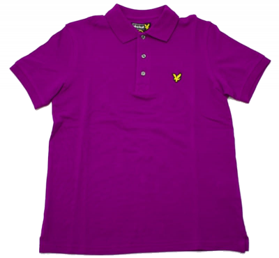 Lyle & Scott Classic Plain Pique Polo Shirt in Blackcurrant