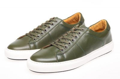 John White Bari Sneakers In Green