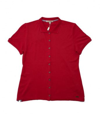 Barbour Deepdale Polo Shirt in Red Sky
